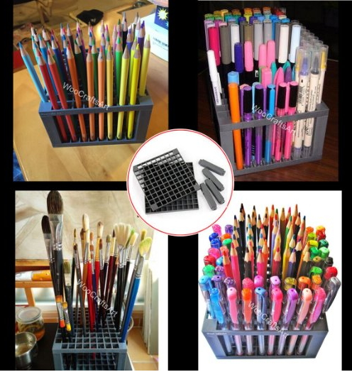 96 Holes Pencil Holder Pen Desk Stand