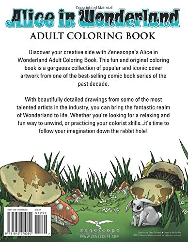 Adult Coloring Book Alice in Wonderland