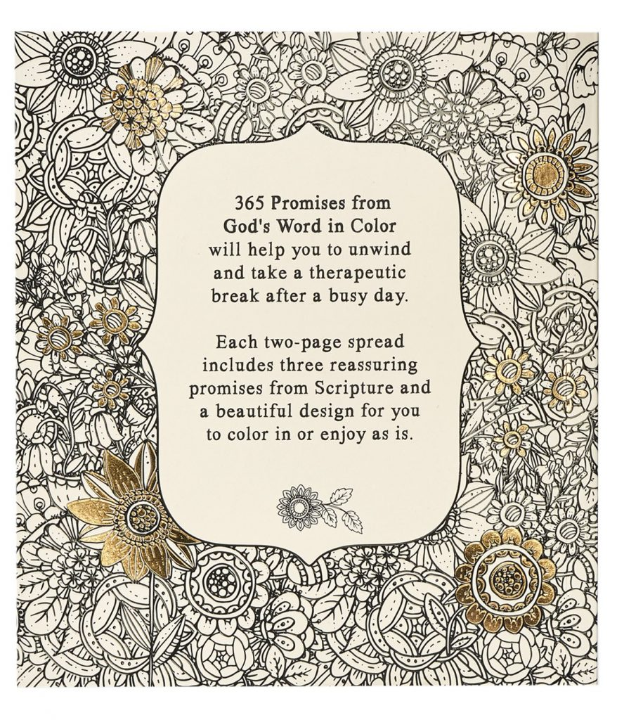 In Color Scripture and Coloring Pages 365 Promises From Gods Word