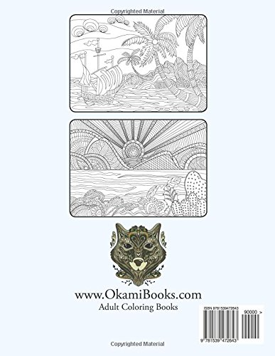 Vacation Summer and Beach Adult Coloring Book