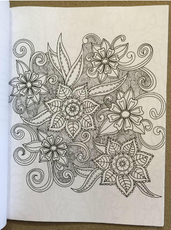 anti stress flower coloring book