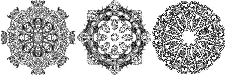 Mandala coloring book for relaxation and de-stressing
