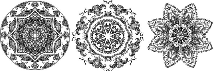 Anti-stress mandala coloring pages