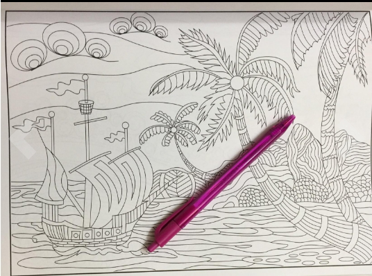 Island Dreams: Vacation, Summer and Beach - Adult Coloring Book Club
