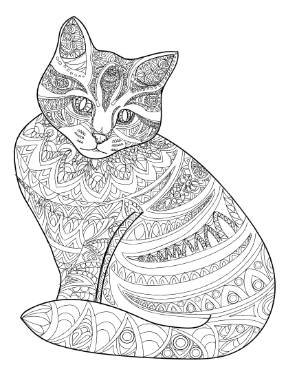 Amazing Animals Vol 1 - Anti-Stress Coloring Book for Adults - Adult ...