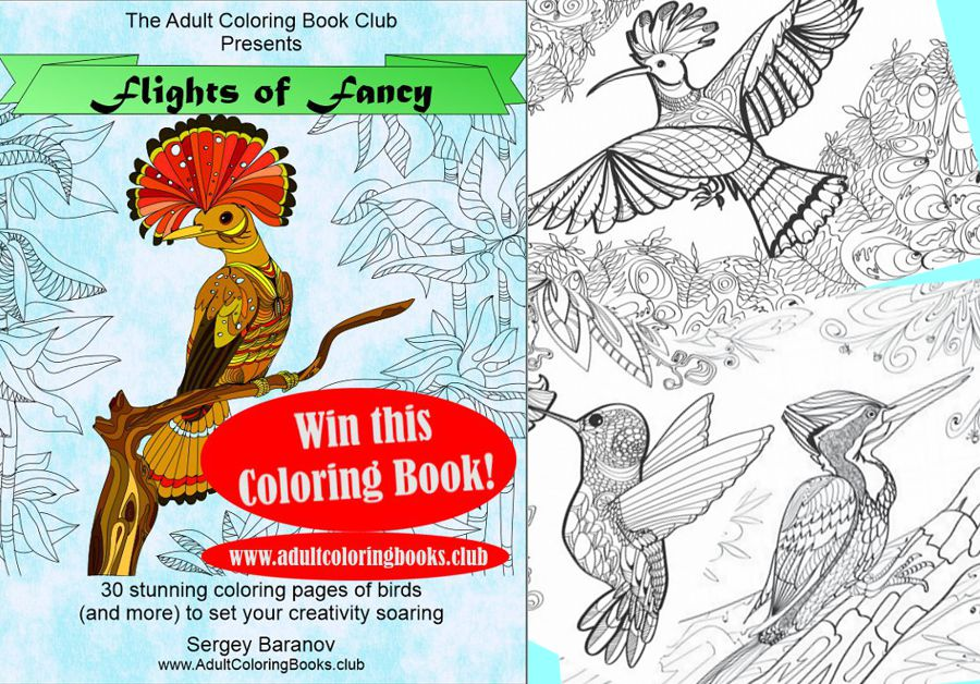 Free Adult Coloring Book Giveaway - Adult Coloring Book ClubAdult