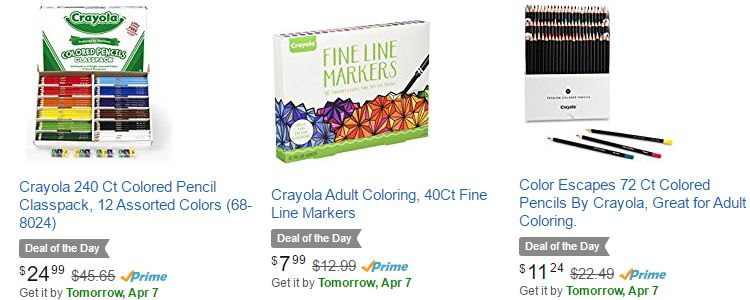 Adult coloring supplies on sale - Coloring Pencils, gel pens and markers.